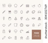 food outline icons for web and... | Shutterstock .eps vector #304102769