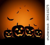 halloween night background with ... | Shutterstock .eps vector #304110275
