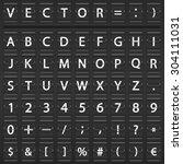 flip scoreboard alphabet ... | Shutterstock .eps vector #304111031
