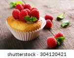 Delicious Cupcake With Berries...