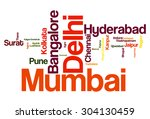 most populated cities in india | Shutterstock . vector #304130459