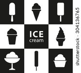 set of ice creams and popsicles. | Shutterstock .eps vector #304136765