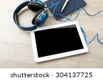 Headphones With Tablet And...