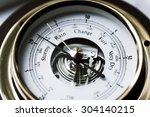 Close Up Of Aneroid Barometer...