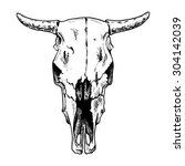 Vector Illustration Of Cow...