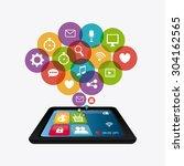 wearable technology design ... | Shutterstock .eps vector #304162565