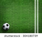 Soccer Field With Soccer Ball...