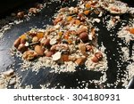 mix nuts seeds and dry fruits ... | Shutterstock . vector #304180931