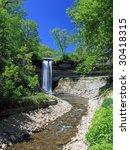 minnehaha waterfall in... | Shutterstock . vector #30418315