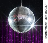 Silver Disco Ball With Stars In ...