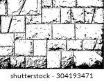 wall of bricks vector texture | Shutterstock .eps vector #304193471