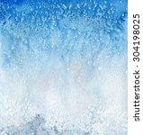 watercolor sea salt background...   Shutterstock . vector #304198025