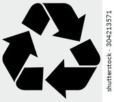 recycle sign | Shutterstock .eps vector #304213571