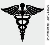 caduceus medical symbol | Shutterstock .eps vector #304213601