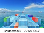commercial vessels marine bulk... | Shutterstock . vector #304214219