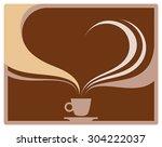 cup of coffee  coffee break | Shutterstock .eps vector #304222037