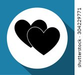 hearts   Shutterstock .eps vector #304229771