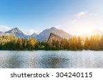 Lake Strbske Pleso In High...