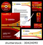 editable corporate identity... | Shutterstock .eps vector #30424090