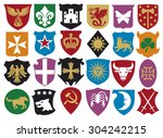 coat of arms collection ... | Shutterstock . vector #304242215