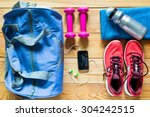 sports equipment is ready to... | Shutterstock . vector #304242515