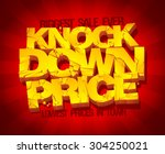 knock down price banner. sale... | Shutterstock .eps vector #304250021