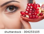 Close Up Of Female Eye. The...