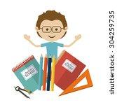 back to school design  vector... | Shutterstock .eps vector #304259735