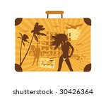 summer holiday  suitcase | Shutterstock .eps vector #30426364