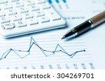 financial analysis concept | Shutterstock . vector #304269701