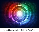 abstract vector future... | Shutterstock .eps vector #304272647