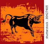 grunge bull bitmap background | Shutterstock . vector #30427405