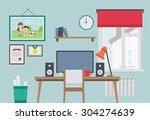flat style vector illustration... | Shutterstock .eps vector #304274639