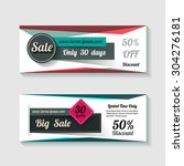 sale banners set design mega... | Shutterstock .eps vector #304276181