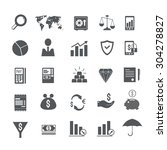 finance vector icons set | Shutterstock .eps vector #304278827