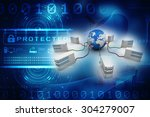 data network | Shutterstock . vector #304279007