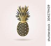 single black and golden... | Shutterstock . vector #304279439
