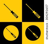 very useful flat icon of screw... | Shutterstock .eps vector #304292657