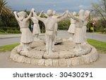 Sardana Dancers Statue In...