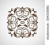 ornate element for design ...   Shutterstock .eps vector #304310081