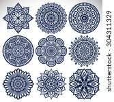 mandalas. vintage decorative... | Shutterstock .eps vector #304311329