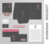 corporate identity template... | Shutterstock .eps vector #304318157
