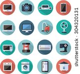 home appliances and electronics ... | Shutterstock .eps vector #304320131