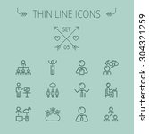 business thin line icon set for ... | Shutterstock .eps vector #304321259