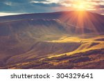 scenic view of mountains ...   Shutterstock . vector #304329641