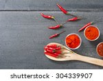 Chili Fruits And Red Pepper...