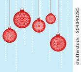 christmas vector image. hanging ... | Shutterstock .eps vector #304340285