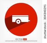 car trailer.  vector icon 10 eps