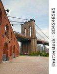 Pylon Of Brooklyn Bridge With...