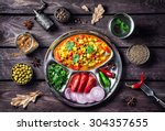 Indian Mutter Paneer Dish With...